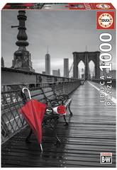 Quebra-cabeça 1000 Guarda-chuvas Vermelho, Ponte De Brooklyn Educa 17691