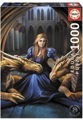 Puzzle 1000 Loyauté Féroce de Anne Stokes Educa 17692