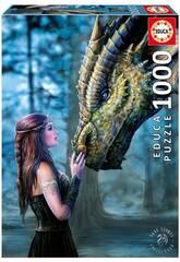 Puzzle 1000 Érase Una Vez de Anne Stokes Educa 17099