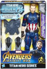 Avengers Figura Capitan America 30 cm. E Zaino Power FX Hasbro E0607