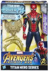 Avengers Figura Iron Spider 30 cm. E Zaino Power FX Hasbro E0608