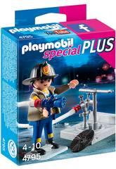 Playmobil Pompier avec tuyau