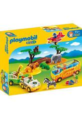 Playmobil 1.2.3 Frand Safari Africain