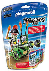 Playmobil Cañon Interactivo Verde con Pirata