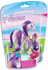 Playmobil Princesse Violette avec Cheval à Coiffer