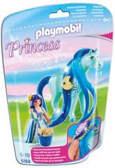 Playmobil Princesse Bleuet et son Cheval à coiffer