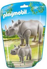 Playmobil Rinoceronte con Bebe