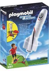 Playmobil Fusée avec Plateforme de Lancement