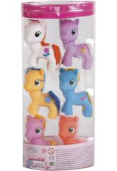 Pack de 6 Ponys Avec Accessoires