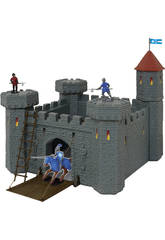 Mittelalterliche Burg mit Katapult