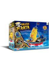 Galeone Pirata con 3 Figure