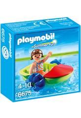 Playmobil Enfant Avec Bateau à Pédales