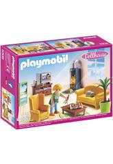 Playmobil Sala de Estar con Chimenea