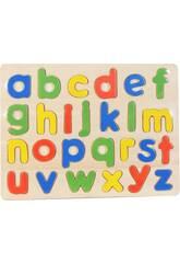 Puzzle Madera Letras Minúsculas 26 piezas 30x23cm.