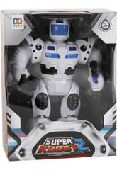 Super Robot Blanco Luces y Sonidos 25x19x7cm