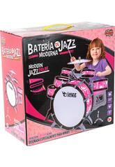 Batteria Rosa Jazz 5 Tamburi e Piatti