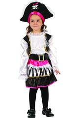 Disfraz Pirata Chica para Bebé Talla M