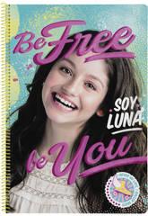 Cahier Folio Revêtement Rigide 80 Feuilles Soy Luna Be Free