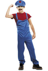 Disfraz Niño S Super Plumber Rojo