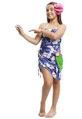 Déguisement Enfant L Princesse Hawaienne
