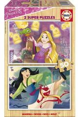 Puzzle 2x50 Princesses Disney