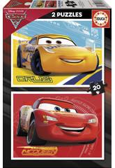 Puzzle 2X20 Cars 28x20 cm EDUCA 17176