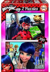 Puzzle junior 2X100 Ladybug