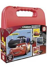 Puzzle Maleta Progresivos Cars Educa 17175