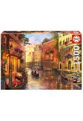 Puzzle 1500 Tramonto a Venezia