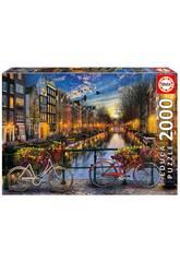 Puzzle 2000 Amsterdam 96x68 cm EDUCA 17127