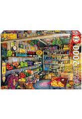 Puzzle 2000 Tienda De Comestibles Educa 17128
