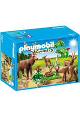 Playmobil Branco di Cervi con Cuccioli e Leprotti