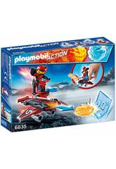 Playmobil Feuerroboter mit Launcher 6835