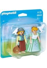 Playmobil Duopack Princess e Fazendeiro 6843