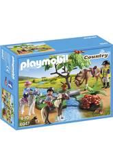 Playmobil Cavaliers avec Poneys et Cheval 6947