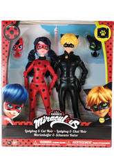 Pack 2 Muñecas Ladybug y Cat Noir 27cm Bandai 39810
