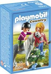 Playmobil Cavalière avec soigneuse et poney