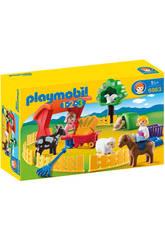 Playmobil 1,2,3 Recinto de Animales