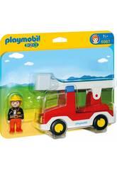 Playmobil 1,2,3 Caminhão Bombeiro