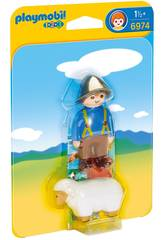Playmobil 1,2,3 Granjero con Oveja 6974