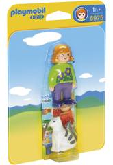 Playmobil 1, 2, 3 Soigneur avec Chat 6975