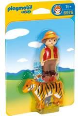 Playmobil 1,2,3 Domatore con Tigre 6976