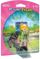 Playmobil Figure Soigneuse Avec Bébé Gorille