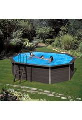 Pool Holz Gre Composite Pool 804x386x124 cm.