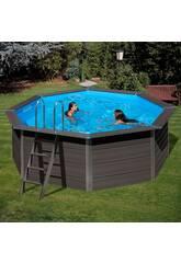 Schwimmbecken Holz Gre Composite Pool 410x124 cm.