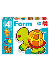 Puzzle Infantil Educativo Form Tortuga Baby