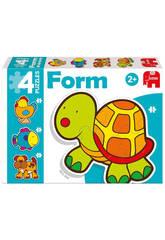 Puzzle Infantil Educativo Form Tartaruga Baby