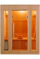 Traditionelle Sauna Zen -3.5 Kw - 3 Plazas Poolstar SN-ZEN-3