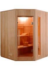 Sauna Tradicional Zen -4.5 Kw - 3 Plazas Angular Poolstar SN-ZEN-3C