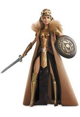 Figura Barbie Colección Wonder Woman Queen Hipolyta 31x14cm Mattel DWD83